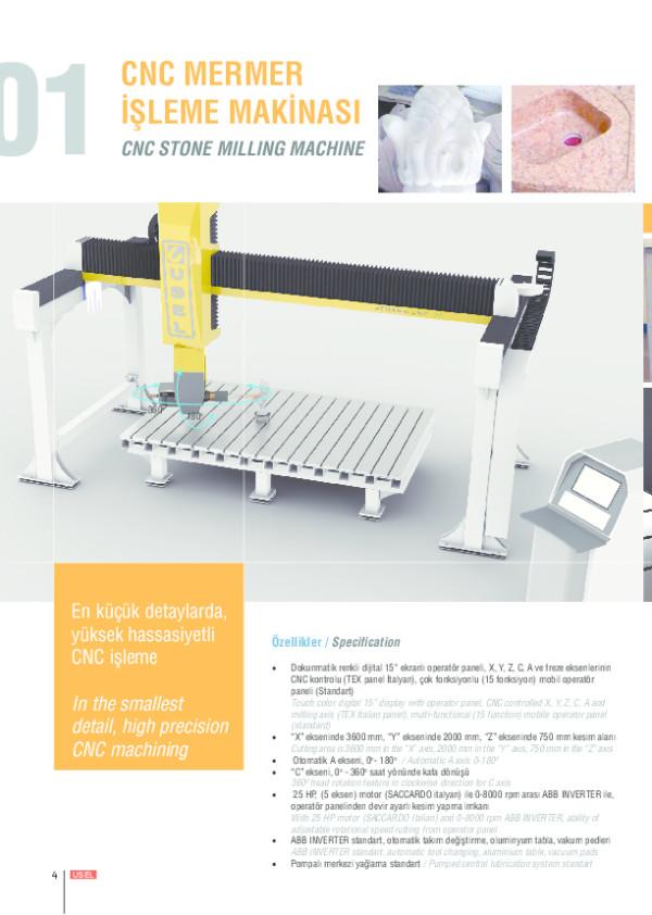 CNC Mermer İşleme Makinesi