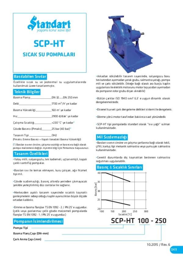 SCP-HT Sıcak Su Pompaları