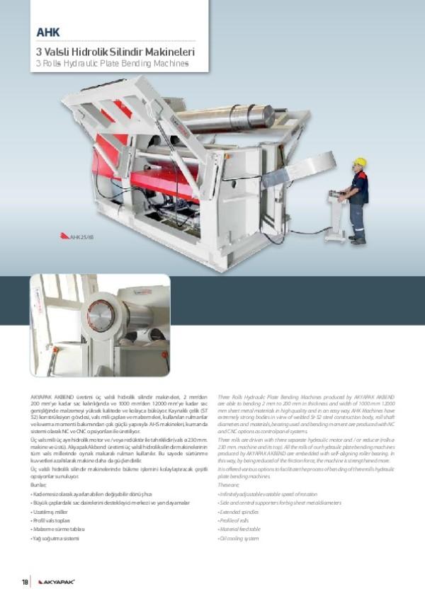 AHK- 3 Valsli Hidrolik Silindir Makinesi