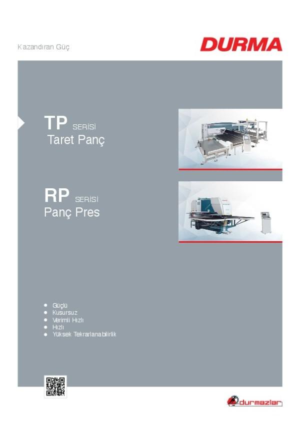 TP Serisi Taret Panç ve RP Serisi Panç Pres