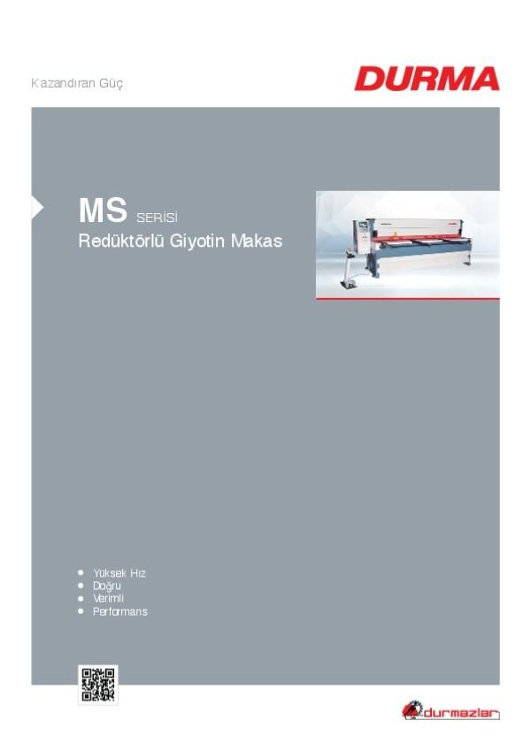 MS Serisi Redüktörlü Giyotin Makas