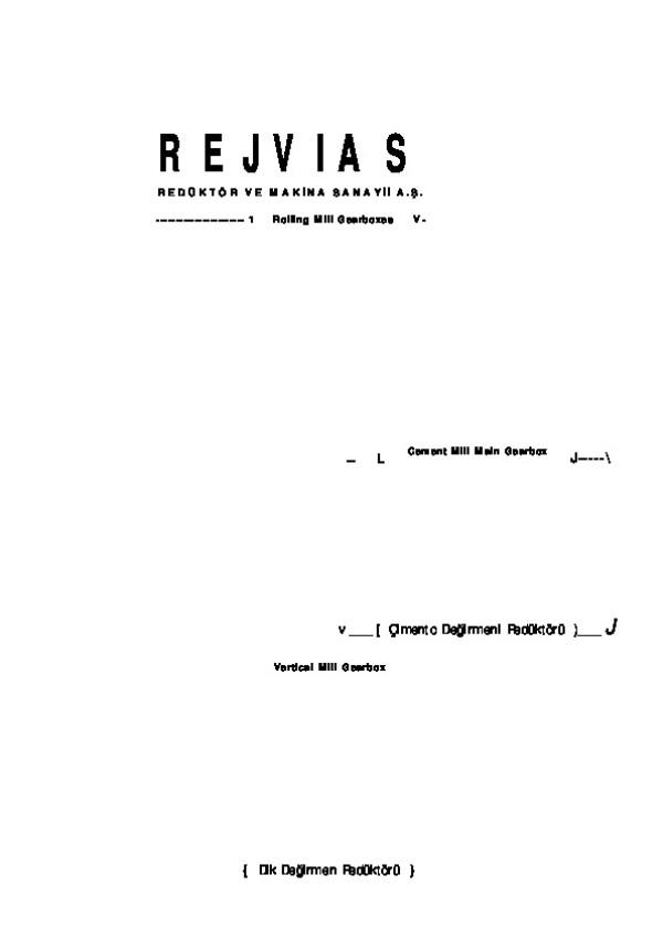 Redüktörler Katalog