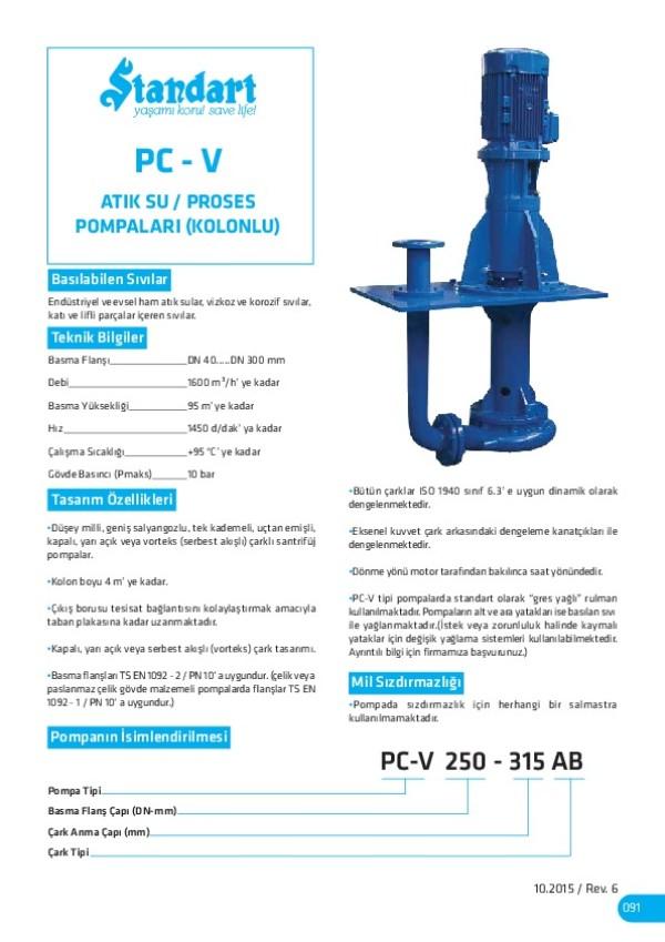 PC-V Atık Su/ Proses Pompaları (Kolonlu)