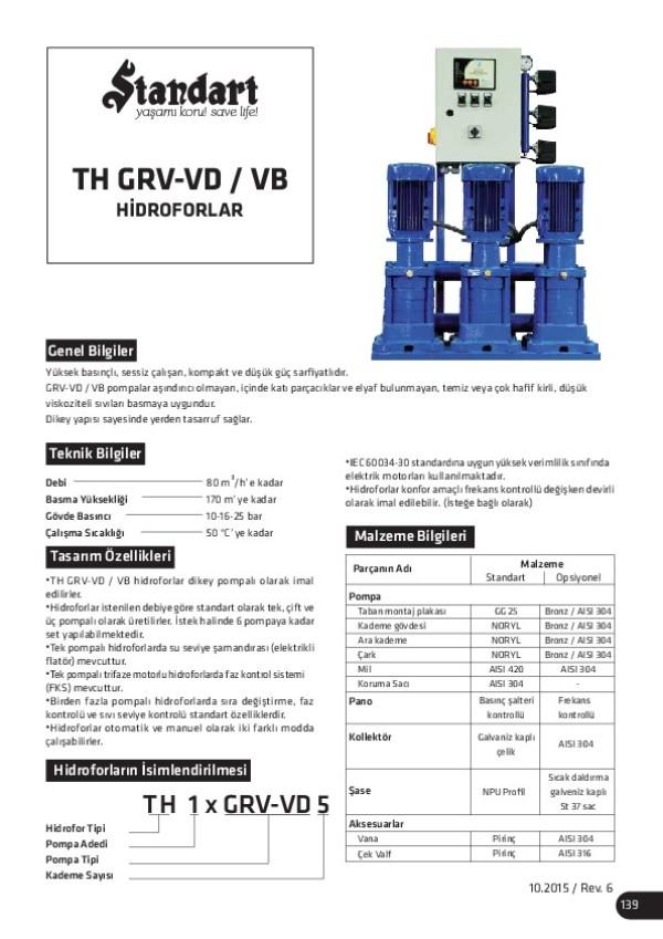 TH GRV-VD/ VB Hidroforlar