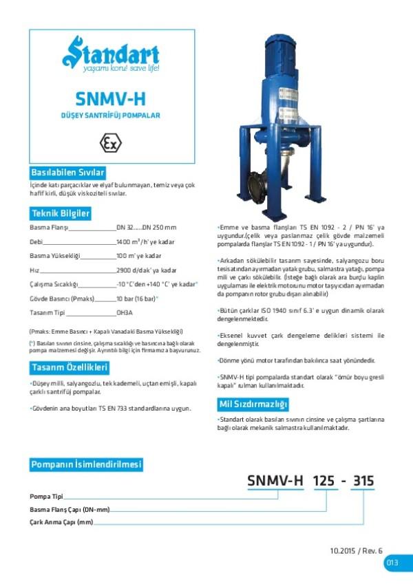 SNMV-H Düşey Santrifüj Pompalar