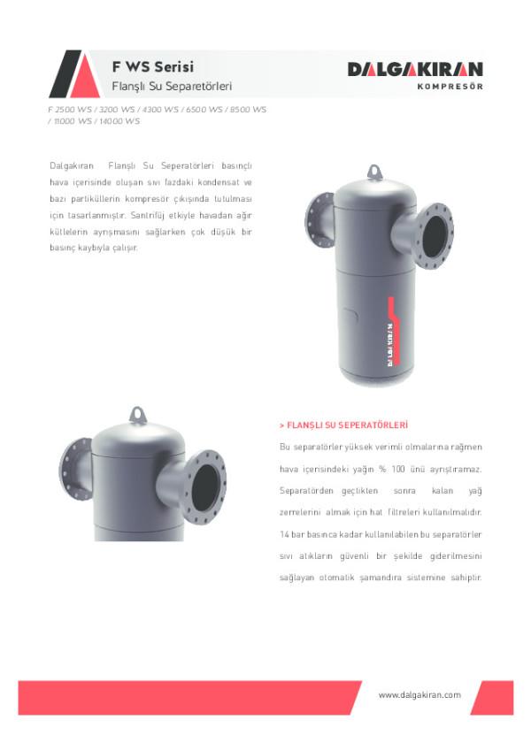 Flanşlı Su Separatörleri