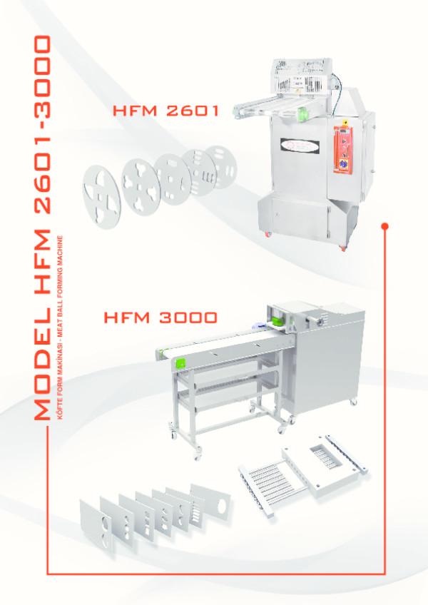 HFM 2601-3000 Hamburger Köfte Form Makinası