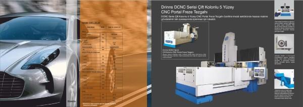 Çift Kolonlu 5 Yüzey CNC Portal Freze Tezgahı