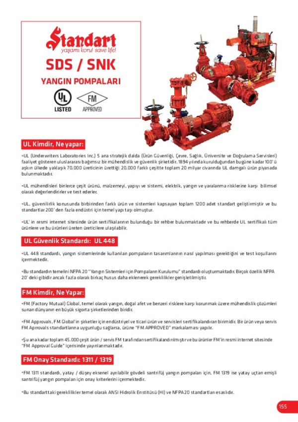 SDS SNK Yangın Pompaları